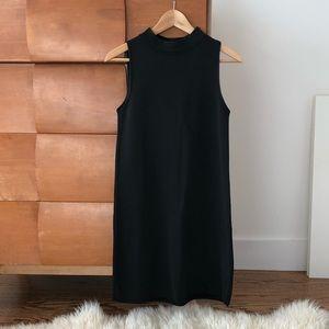 Zara mock neck black mini dress